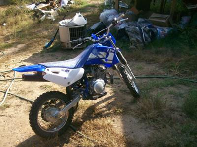 Yamaha TTR125 Dirt Bike (this photo is for example only; please contact seller for pics of the actual dirt bike for sale in this classified)