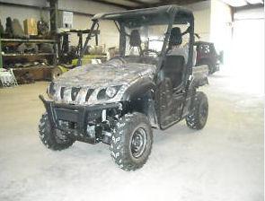 2009 Yamaha Rhino 700 FI 4X4 ATV camo four wheeler 4