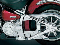 yamaha roadstar swingarm covers chrome custom
