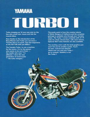 TURBO I Yamaha XJ650G Factory Prototype